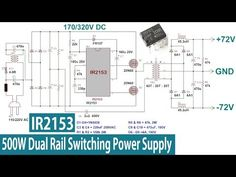 Hi, in this tutorial I'll show you how to make a dual rail power supply for a power amplifier with a wattage of up to Its based on the Half-Brid. Power Electronics, Electronics Basics, Switched Mode Power Supply, Power Supply Circuit, Circuit Diagram, Audio Amplifier, Science And Technology, Electronic Circuit, Circuit Projects