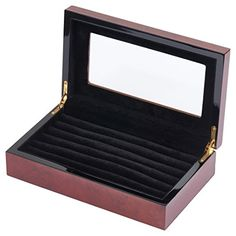 Wooden Cufflink Box for 24 Pairs Quality Stays