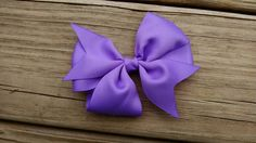 Girls Hair Bow/lavender hair bow/pinwheel by BusyBellaBoutique