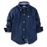 Polka dot chambray will look polished on your little man. Pair this button-front shirt with a tan blazer and twills for a dressed-up Easter look.