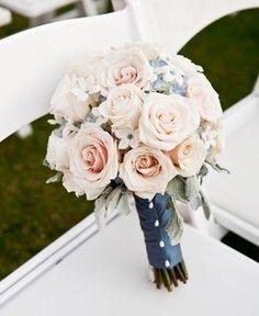 Blush Bouquet & Navy Wrap