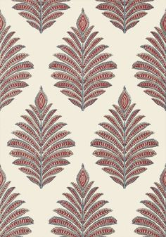 Palampore Leaf - Red/Blue wallpaper, from the Palampore collection by Anna French Palampore Leaf - Grey wallpaper, from the Palampore collection by Anna French Pattern Texture, Textile Pattern Design, Surface Pattern Design, Textile Patterns, Pattern Art, Fabric Design, Print Patterns, Floral Patterns, Motif Design