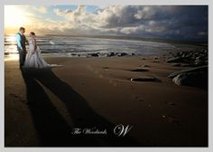 Wedding couple sunset on Co Clare Beach Ireland