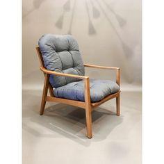 """Fauteuil """"design scandinave"""" revêtement gris d'occasion vintage, design, scandinave, industriel, ancien vendu sur Collector Chic dépôt-vente"""