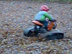 tracks on a minibike
