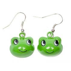 Jingling froggy earrings
