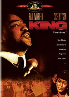 """The King of Civil Rights! Paul Winfield (""""Sounder"""") as the iconic Rev. Martin Luther King in a miniseries airing on the tenth anniversary of the real crusader's death. Also starring Cicely Tyson (ibid) as Coretta. Ernie Hudson, Coretta Scott King, Tony Bennett, Civil Rights Leaders, Drama, Nobel Peace Prize, Watch Tv Shows, Action"""