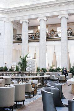 The lobby of The Ritz-Carlton Philadelphia.