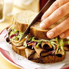 Pumpernickel Rye Bread + Roast Beef + Coleslaw = One Amazing Sandwich