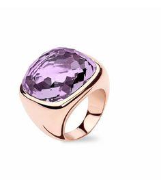 Tirisi Jewelry Ring Verona Vierkant Amethist