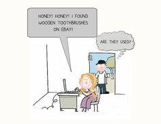 Ebay Cartoon | Cottage Bathroom | The Lettered Cottage
