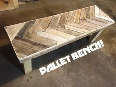 DIY Herring Bone Patterned Pallet Bench! : 5 Steps (with Pictures)