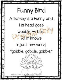 Funny Bird - Thanksgiving Poem for Kids