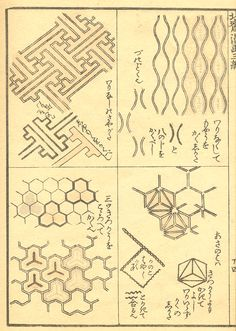 Japanese pattern and Dutch paintings Japanese Ornaments, Japanese Patterns, Vintage World Maps, Notes, Prints, Dutch, Paintings, Patrones, Drawings