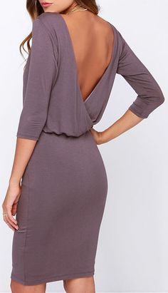 All or Nothing Dusty Purple Backless Dress  at dubli http://greatcashback.info/dub