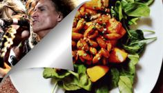 Insalata zucca gialla, funghi e spinaci alla Aerosmith / Areosmith' salad with yellow pumpkin, mushrooms and spinachs