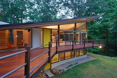 For Sale: We absolutely love thisJames Evans designed four-bedroom home inNew Canaan, CT. Evans was astudent of Louis Kahn, and designed a number of homes in the tri-state area. This home might be one of his finest. Located on almost 5 wooded acres and dominated by a unique hyperbolic paraboloid roof, this home has been lovingly updated and is a stunningpieceof mid-centuryarchitecture.Enjoy!    > Learn More