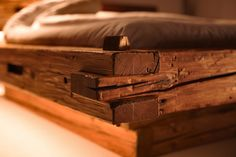 Double beds | Beds and bedroom furniture | Old timber beam bed. Check it out on Architonic