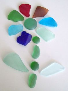 Assorted Colors Craft Glass Sea Glass Mosaic Arts Jewelry Lot