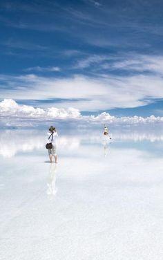 Where the Clouds meet the Salt Flats ~ Salar de Uyuni, Bolivia