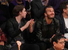 David Beckham and Brooklyn Beckham watch Kobe Bryant's last NBA game
