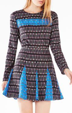 Amabel Cupid Stripe Print-Blocked Dress $268