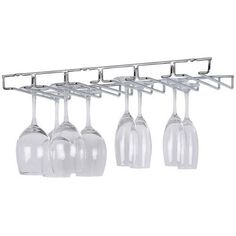 Home Bar Stemware Holder Wine Glass Cup Rack Shelf Kitchen Cabinet Chrome #DoesNotApply