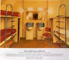 Robert Mallet Stevens cabine bateau 3è classe 1935