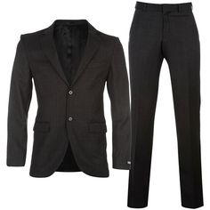 DKNY Birdseye Suit ($200) ❤ liked on Polyvore featuring men's fashion, men's clothing, men's suits, mens wool suits, dkny mens clothing, mens classic fit suits and dkny mens suits