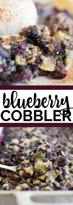 Blueberry Cobbler Recipe via @spaceshipslb