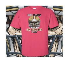 San+Francisco+Die+Hard+Fan+Pink+T-Shirt+100%+Cotton