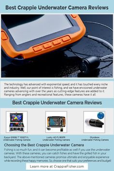 Best Crappie Underwater Camera: Consider the following points while buying the crappie underwater camera. Resolution helps in watching the clear image, and for measuring the resolutions, you need to look for the pixels. It is better to look for an underwater camera with an IP68 rating of water resistance. Last, long battery life to ensure you can fish till the sun goes down Underwater Fishing Camera, Ram Card, Crappie Fishing Tips, Line Camera, Watch Image, Underwater Creatures, Camera Reviews, Resolutions, Over The Years