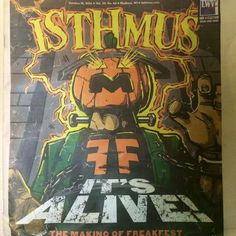 Hey Guys! Check it out. Tommy, the artist who has done the graffiti artwork at the box, has his images on the front cover of the Isthmus! Pretty Cool!  Happy Halloween!