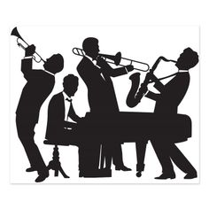 Beistle 52178 Great Jazz Band Insta-Mural, x Party Decorations, Black/White This item is a great value! Includes 1 insta-mural in package Measures 5 feet by 6 feet Made of thin plastic Use this as a complete wall decoration at a great party! Roaring 20s Party, Gatsby Themed Party, 1920s Party, 1920s Wedding, Roaring Twenties, Gangster Party, Party Wall Decorations, Party Themes, Prom Decor