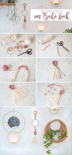 DIY - Boho Wanddeko selbermachen - Leelah Loves Instructions for a simple, self. DIY – Boho Wanddeko selbermachen – Leelah Loves Instructions for a simple, self-made wall deco Crafts For Teens To Make, Halloween Crafts For Kids, Crafts To Sell, Diy Crafts, Diy Halloween, Diy Jewelry Unique, Diy Jewelry To Sell, Diy Jewelry Holder, Jewelry Crafts
