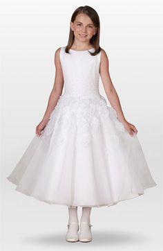 Joan Calabrese for Mon Cheri Leaf Dress (Little Girls & Big Girls) available at #Nordstrom