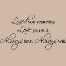 Vinyl Lettering Wall Sayings Loved You Yesterday Love You Still Wall Sayings Vinyl Lettering