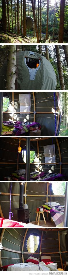 Awesome sphere tent…