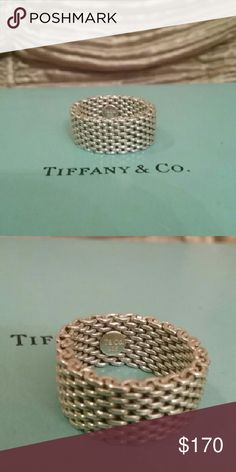 TIFFANY & CO. Somerset Ring Sterling Silver Authentic Tiffany & Company Somerset Sterling Silver Ring. Sells for $300 on Tiffany & Company website. Beautiful,  like new condition! SIZE 8 Tiffany & Co. Jewelry Rings