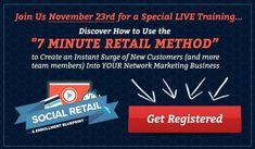 Affiliate Page: Social Media Enroller Network Marketing Books, Retail Customer, Team Member, November, Friday, Training, Social Media, Sign, Lettering