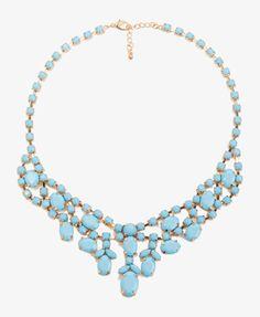 Opaque Rhinestone Necklace | FOREVER21 - Love this... comes in a true pink shade, also. $12.80