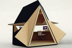 Tetra-Shed, a new workspace from London design firm Innovation Imperative