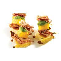 Mini-brochettes de mangue, jambon serrano et coulis de balsamique | Recettes IGA | Apéro, Fromage, Recette facile