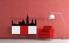 Veneza - Skylines em vinil de corte com 18 cores diferentes e 2 acabamentos (brilhante/mate). Saiba tudo em http://www.cultodecor.com