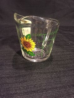 anchor hocking sunflower measuring 1cup measuring-RARE  | eBay #sunflower #mom