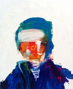 No face man - acrylic on canvas - 100 x 80 cm.