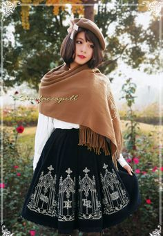 Surface Spell Sweet Embroidery Wool Lolita Winter Skirt