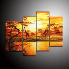 Giraffe Oil Paintings love the different sizes in the series