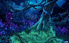 Another Avatar inspired pic, this one took a bit more work. Avatar Films, Avatar Movie, Fantasy Places, Fantasy World, Fantasy Art, Fantasy Forest, Magic Forest, The Sims, Forest Color