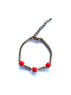 Bracelet sequins émail - bijou créateur de la boutique lesfilsdestemps sur Etsy